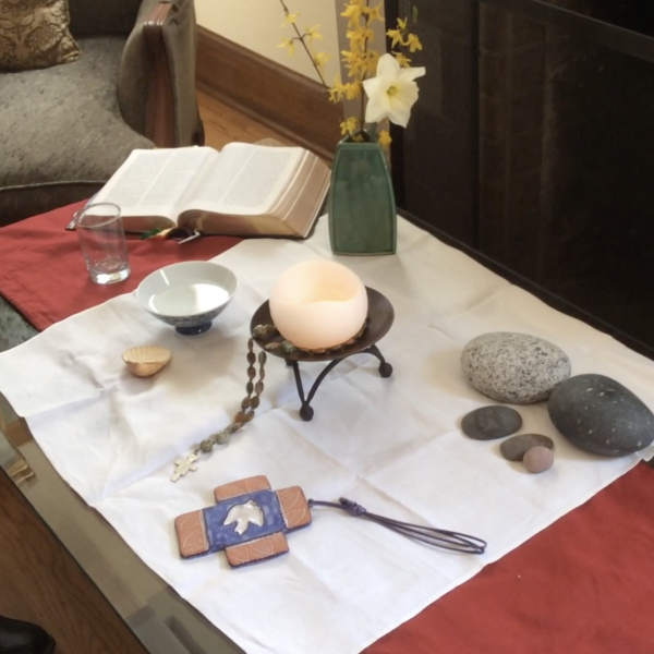The Thomasons' Home Altar