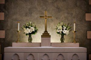 Flowers in Thomsen Chapel