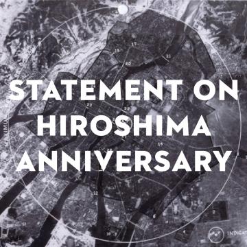 Statement on Hiroshima Anniversary
