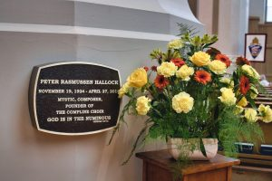 Flowers in memory of Dr. Peter Hallock