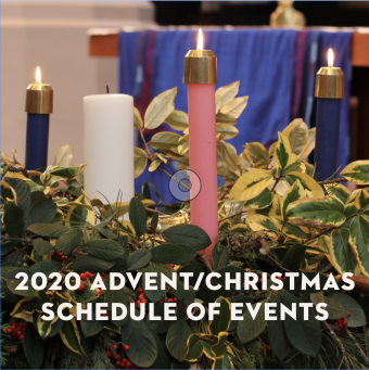 2020 Advent/Christmas Schedule of Events