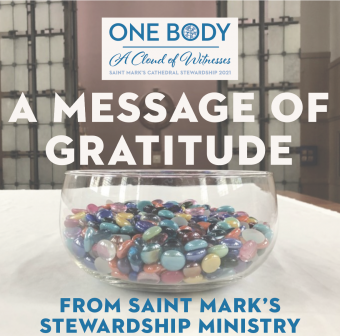 A Message of Gratitude from the Saint Mark's Stewardship Ministry